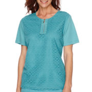 Alfred Dunner® Cozumel Short-Sleeve Lace Top