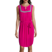 Liz Claiborne® Sleeveless Bib-Front Dress