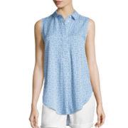 Liz Claiborne® Sleeveless Tunic