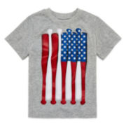 Okie Dokie® Short-Sleeve Americana Graphic Tee - Toddler Boys 2t-5t