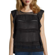 a.n.a® Ruffle Lace Top