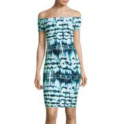 Decree® Off-the-Shoulder Bodycon Dress
