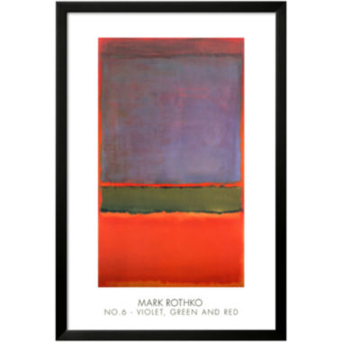jcpenney.com | Art.com No. 6 Violet, Green and Red, 1951 Framed Print Wall Art