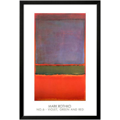 Art.com No. 6 Violet, Green and Red, 1951 Framed Print Wall Art