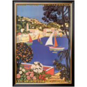 Cote d'Azur Framed Print Wall Art