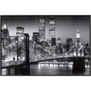 Manhattan, New York Black Framed Poster Wall Art