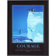 Courage Framed Print Wall Art