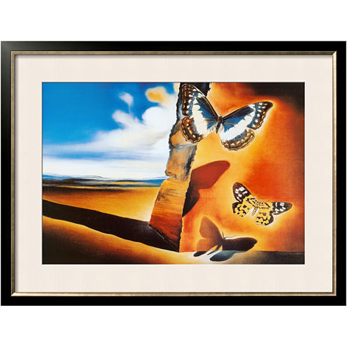 Landscape with Butterflies Framed Print Wall Art