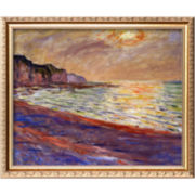 Beach at Pourville, Sunset, c.1882 Framed Giclée Print Wall Art