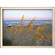 Beach Scene with Sea Oats Framed Photo Wall Art