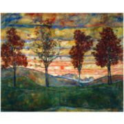 Four Trees, 1917 Stretched Canvas Wall Art