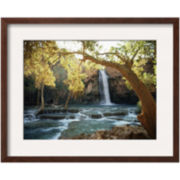 Scenic View of a Waterfall Framed Photo Wall Art