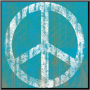 Blue Peace Print Wall Art