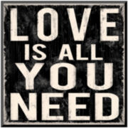 Love is All You Need Print Wall Art