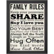 Art.com Family Rules Framed Print Wall Art