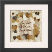 Live Well Love Much Laugh Often Framed Print Wall Art