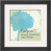 Respect Framed Print Wall Art