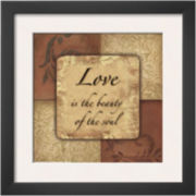 Love Framed Print Wall Art