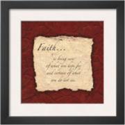 Art.com Words to Live By: Faith Framed Print Wall Art