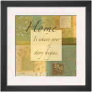 Muted Moments: Home Framed Print Wall Art