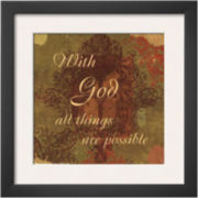 Words to Live By: With God Framed Print Wall Art