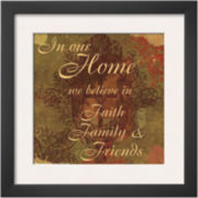 Words to Live By: In Our Home Framed Print Wall Art