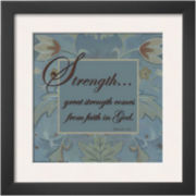 Tapestry Flowers: Strength Framed Print Wall Art