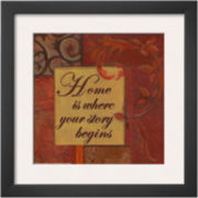 Words to Live By: Home Framed Print Wall Art