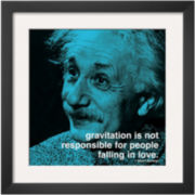 Einstein Love Framed Print Wall Art