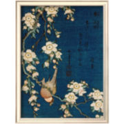 Art.com Goldfinch and Cherry Tree, c.1834 Framed Print Wall Art