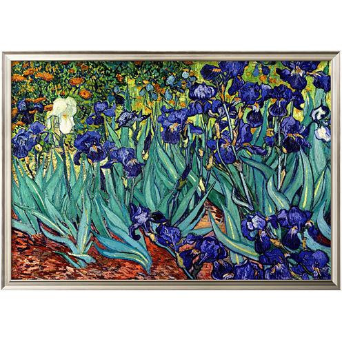 Art.com Irises, Saint-Rémy, c.1889 Framed Print Wall Art