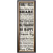 Family Rules Panel Framed Print Wall Art