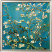 Almond Branches in Bloom, Saint-Rémy, c.1890 Framed Print Wall Art
