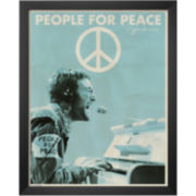 John Lennon People for Peace Framed Print Wall Art
