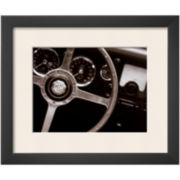 Steering Wheel Framed Print Wall Art
