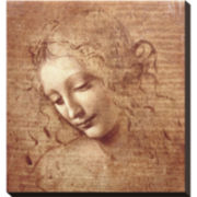Art.com Female Head (La Scapigliata), c.1508 Stretched Canvas Wall Art