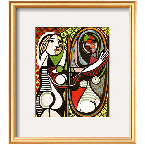 Girl Before a Mirror, c.1932 Framed Print Wall Art