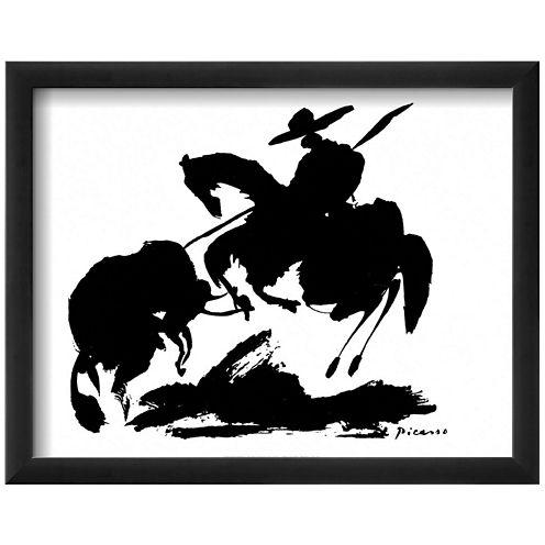 Bullfight I Framed Print Wall Art