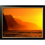 A Golden Sunset Framed Photo Wall Art