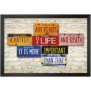 Life and Death Framed Print Wall Art