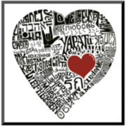 Art.com Love in 44 Languages Print Wall Art