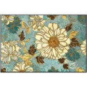 Art.com Sophias Flowers Blue Print Wall Art
