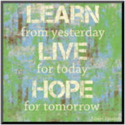 Learn Live Hope Print Wall Art