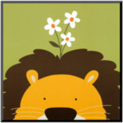 Peek-a-Boo IX Lion Print Wall Art