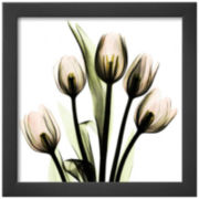 Crystal Tulip Bouquet Framed Print Wall Art