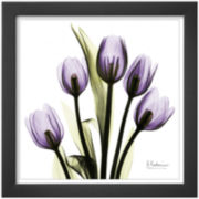 Tulips in Purple Framed Print Wall Art