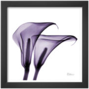 Violet Calla Twins II Framed Print Wall Art