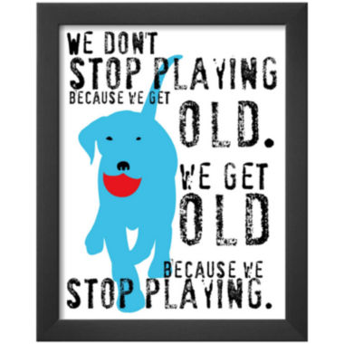 jcpenney.com | Art.com Don't Stop Playing Framed Print Wall Art