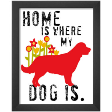 jcpenney.com | Art.com Home is Where My Dog is Framed Print Wall Art