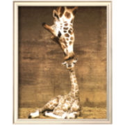 Art.com Giraffe First Kiss Framed Print Wall Art